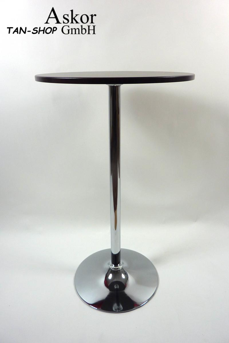 stehtisch holzfarben rund holz mdf 102 cm bistrotisch. Black Bedroom Furniture Sets. Home Design Ideas
