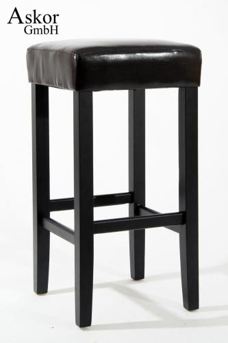 2x barhocker holz braun kunstleder verstellbare bodengleiter gepolstert. Black Bedroom Furniture Sets. Home Design Ideas