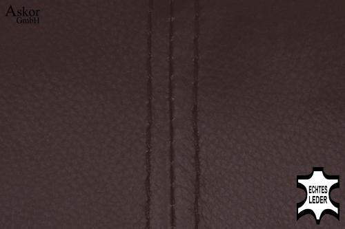 2x barhocker braun echt leder drehbar h henverstellbar for Barhocker braun leder