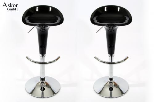 2x barhocker schwarz kunststoff drehbar h henverstellbar heusa gmbh. Black Bedroom Furniture Sets. Home Design Ideas