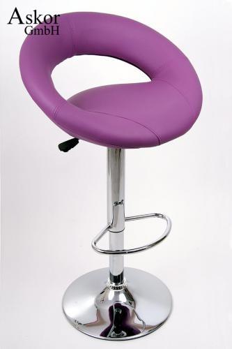 barhocker 2x lila kunstleder drehbar h henverstellbar. Black Bedroom Furniture Sets. Home Design Ideas