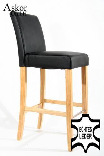barhocker holz schwarz echt leder gepolstert heusa gmbh. Black Bedroom Furniture Sets. Home Design Ideas