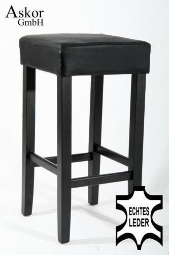 barhocker holz schwarz echt leder gepolstert heusa gmbh. Black Bedroom Furniture Sets. Home Design Ideas