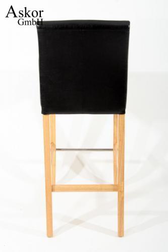 barhocker holz schwarz kunstleder verstellbare bodengleiter gepolstert. Black Bedroom Furniture Sets. Home Design Ideas