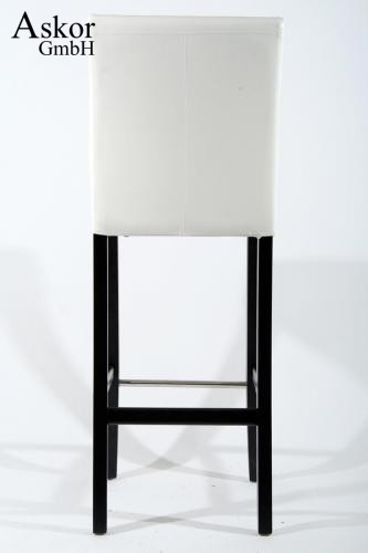barhocker holz wei kunstleder verstellbare bodengleiter gepolstert heusa. Black Bedroom Furniture Sets. Home Design Ideas