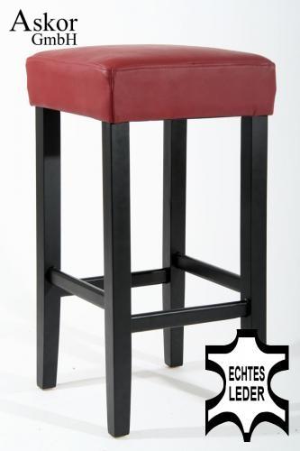 barhocker holz weinrot echt leder gepolstert heusa gmbh. Black Bedroom Furniture Sets. Home Design Ideas