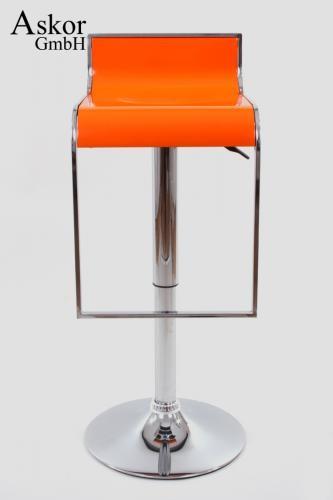 barhocker orange kunststoff h henverstellbar. Black Bedroom Furniture Sets. Home Design Ideas