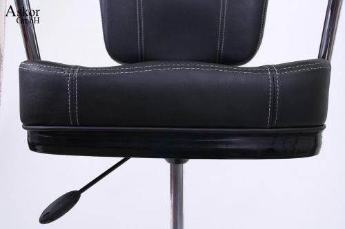 barhocker schwarz kunstleder auto return gaslift. Black Bedroom Furniture Sets. Home Design Ideas