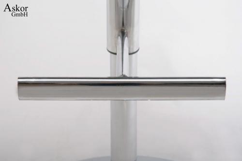 barhocker wei echt leder drehbar h henverstellbar gepolstert. Black Bedroom Furniture Sets. Home Design Ideas