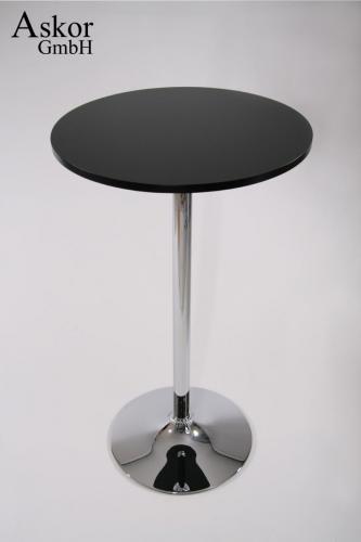 stehtisch schwarz rund holz mdf 102 cm bistrotisch tisch. Black Bedroom Furniture Sets. Home Design Ideas