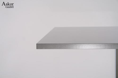 stehtisch silber quadratisch holz mdf 102 cm bistrotisch. Black Bedroom Furniture Sets. Home Design Ideas