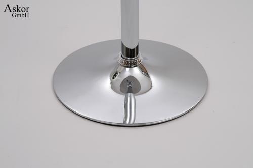 stehtisch silber rund holz mdf 84 104 cm h henverstellbar drehbar bistrotisch tisch bartisch. Black Bedroom Furniture Sets. Home Design Ideas
