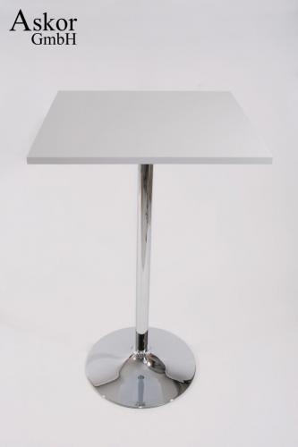 stehtisch wei quadratisch holz mdf 102 cm bistrotisch. Black Bedroom Furniture Sets. Home Design Ideas