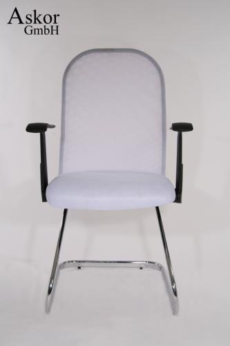 freischwinger wei textil netzstoff chrom miami heusa gmbh. Black Bedroom Furniture Sets. Home Design Ideas