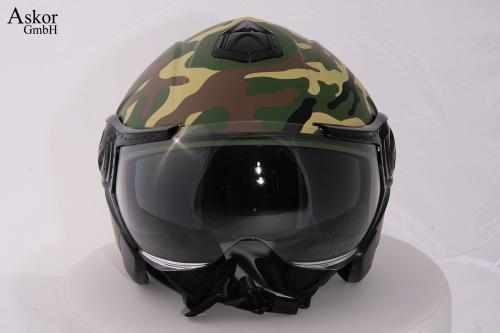 motorradhelm jethelm dd 22 mit sonnenblende camouflage xxl. Black Bedroom Furniture Sets. Home Design Ideas