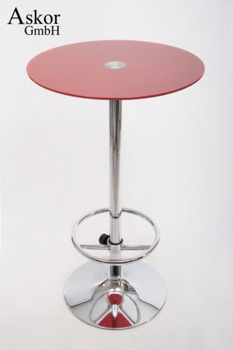 stehtisch rot bistrotisch tisch bartisch rund runde fu st tze glas fu st tze. Black Bedroom Furniture Sets. Home Design Ideas