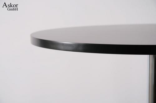stehtisch schwarz rund holz mdf 102 102 cm fu st tze quadratische fu st tze bistrotisch. Black Bedroom Furniture Sets. Home Design Ideas