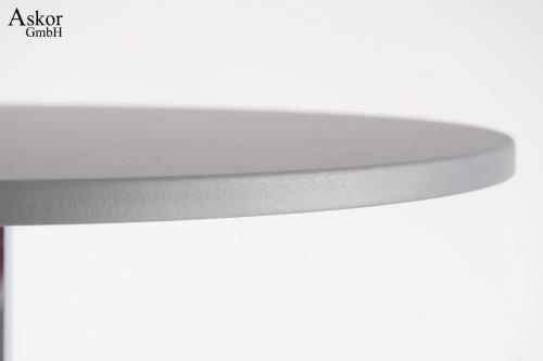 stehtisch silber bistrotisch tisch bartisch rund runde fu st tze holz pvc beschichtet fu st tze. Black Bedroom Furniture Sets. Home Design Ideas