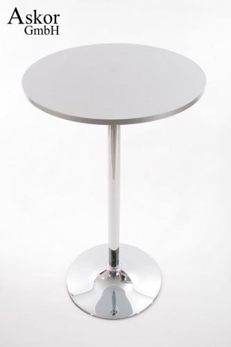 stehtisch silber rund holz mdf 102 cm bistrotisch tisch bartisch heusa gmbh. Black Bedroom Furniture Sets. Home Design Ideas