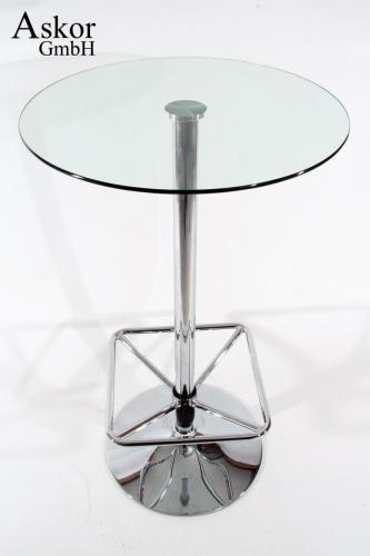 Stehtisch Rund Glas.Stehtisch Transparent Rund Glas 104 Cm Fußstütze