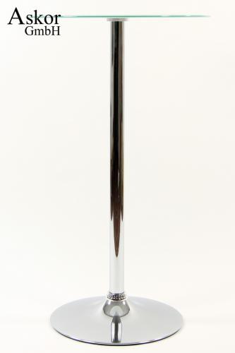 stehtisch wei bistrotisch tisch bartisch rund glas drehbar. Black Bedroom Furniture Sets. Home Design Ideas