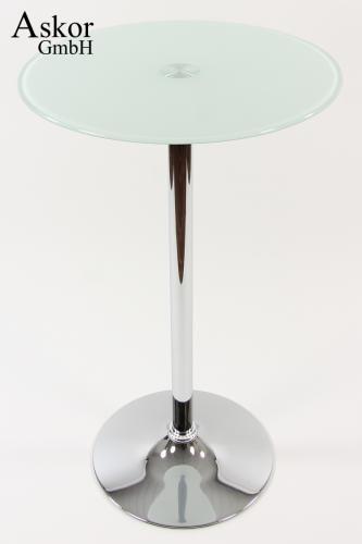 stehtisch wei rund glas 104 cm drehbar bistrotisch tisch bartisch heusa gmbh. Black Bedroom Furniture Sets. Home Design Ideas