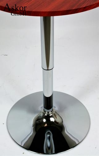 stehtisch holzfarben rund mdf furniert 84 104 cm h henverstellbar drehbar bistrotisch tisch. Black Bedroom Furniture Sets. Home Design Ideas