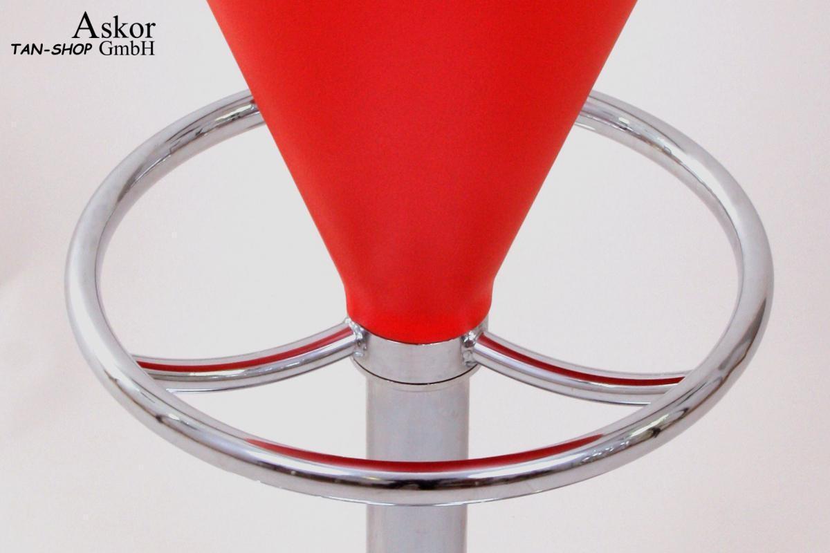2x sgabello da bar rosso finta pelle ruotabile regolabile in altezza