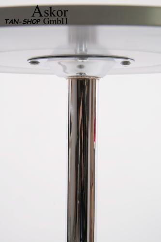 bistrotisch stehisch glas holz mdf h henverstellbar fu st tze 84 104 cm ebay. Black Bedroom Furniture Sets. Home Design Ideas