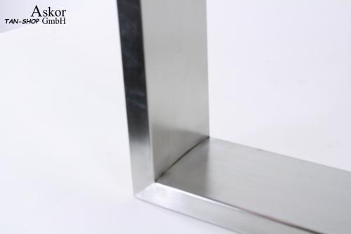 Höhe 40 cm Breite 35 cm 2x Kufengestell Edelstahl Tischgestell Kufen 8x2cm