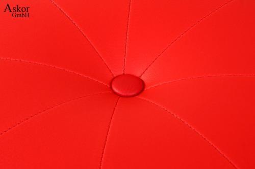 2x Tabouret De Bar Rouge Simili Cuir Pivotant Reglable En