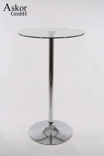 Stehtisch Rund Glas.Stehtisch Transparent Rund Glas 104 Cm Bistrotisch Tisch