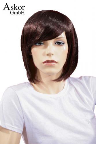 Wig Women Shoulder Length Brown Bob Side Parting Bangs Aktionsangebote De Askor Gmbh