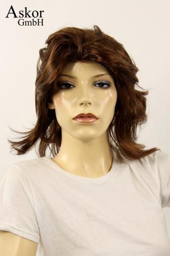 Wig Women Shoulder Length Brown Middle Parting Carnival Carnival
